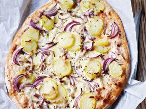 Kartoffelfladen mit Zwiebeln Rezept