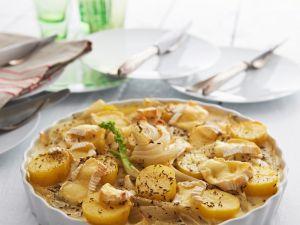 Kartoffelgratin mit Fenchel und Käse Rezept