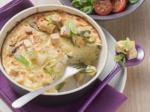 Kartoffelgratin mit geräuchertem Tofu Rezept
