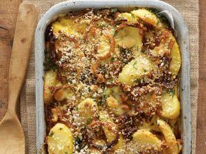 Kartoffelgratin mit Parmesan und Kräutern Rezept