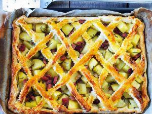 Kartoffelkuchen mit Schinken Rezept