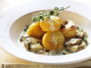 Kartoffelmuffins mit Pilzsoße Rezept