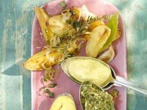Kartoffeln mit Aioli-Dip Rezept