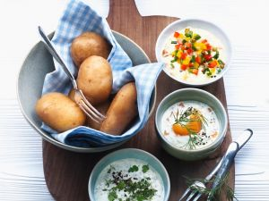 Kartoffeln mit cremigen Saucen Rezept