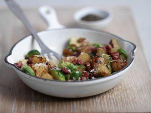 Kartoffeln mit Gemüse auf englische Art Rezept