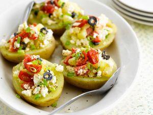 ofenkartoffeln mit schafsk se brokkoli f llung rezept eat smarter. Black Bedroom Furniture Sets. Home Design Ideas