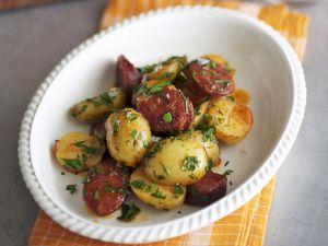 Kartoffeln mit scharfer spanischer Wurst (Chorizo) Rezept