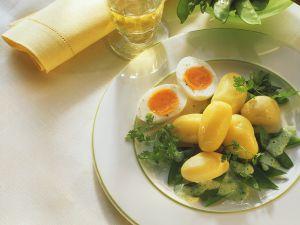 Kartoffeln mit Zuckerschoten Rezept