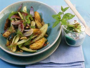 Kartoffelpfanne mit Gemüse Rezept