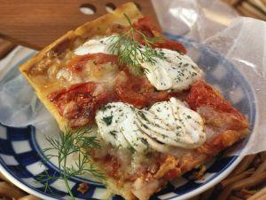 Kartoffelpizza mit Heilbutt Rezept