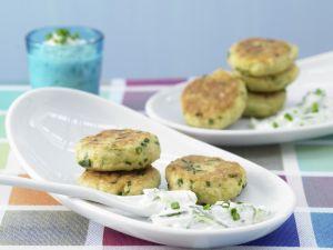 Kartoffelplätzchen mit Joghurt-Dip Rezept