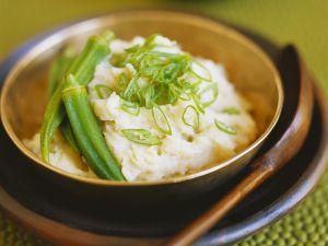 Kartoffelpüree mit Okra Rezept