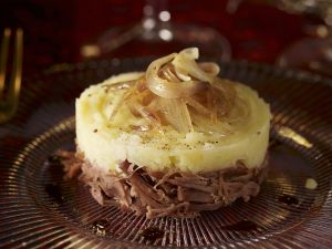 Kartoffelpüree nach Parmentier-Art mit Ente und Zwiebeln Rezept