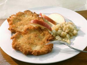 Kartoffelpuffer mit Apfelkompott Rezept