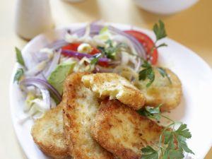 Kartoffelpuffer mit Salat Rezept