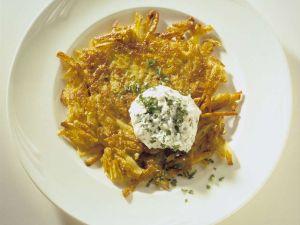 Kartoffelrösti mit Quark Rezept