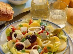 Kartoffelsalat griechische Art Rezept