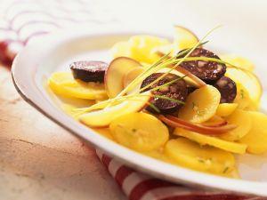 Kartoffelsalat mit Blutwurst Rezept