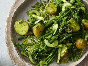 Kartoffelsalat mit Bohnen und Gurke Rezept