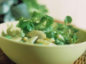 Kartoffelsalat mit Spargel und Brunnenkresse Rezept