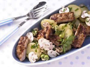 Kartoffelsalat mit Spareribs Rezept