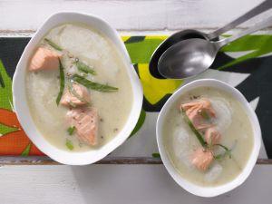 Kartoffelsuppe mit Lachs Rezept