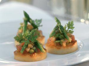 Kartoffeltaler mit Gemüse Rezept
