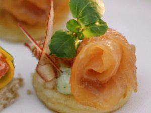 Kartoffeltaler mit Lachs Rezept