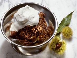 Kastaniencreme mit Sahne (Monte Bianco) Rezept