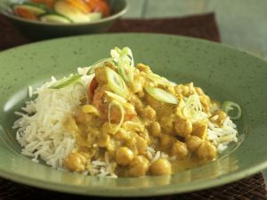 Kichererbsen-Curry mit Reis Rezept