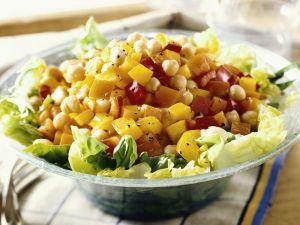 Kichererbsen-Salat mit Paprika Rezept