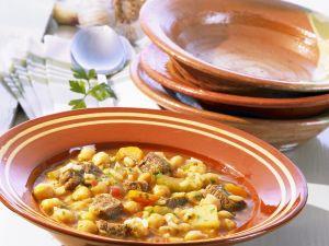 Kichererbsensuppe mit Rind auf marokkanische Art Rezept
