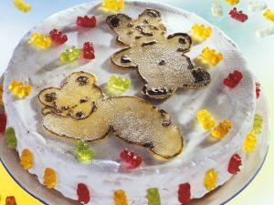 Kindertorte mit Zuckerguss und Bärchen Rezept