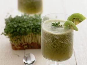 Kiwi-Kresse-Shake Rezept