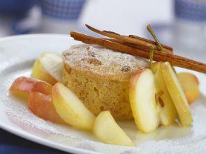 Kleiner Apfel-Brot-Auflauf (Scheiterhaufen) Rezept