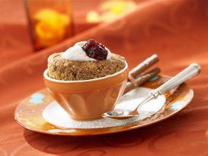Kleiner Nuss-Kaffee-Auflauf (Soufflee) Rezept