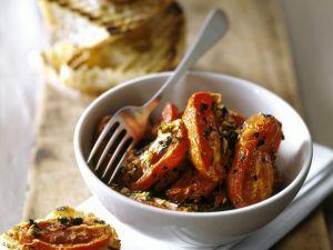 Knoblauchbrot mit gerösteten Tomaten Rezept