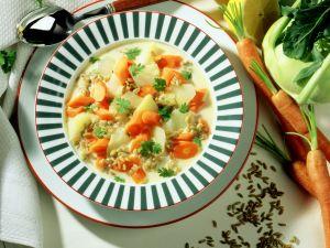Kohlrabi-Möhren-Suppe Rezept