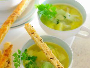 Kohlrabisuppe mit Kartoffeln und Kerbel Rezept