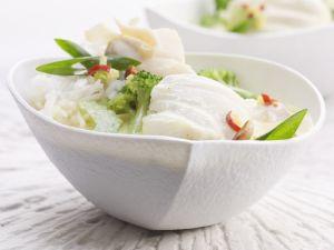 Kokos-Brokkoli-Curry mit Fisch Rezept