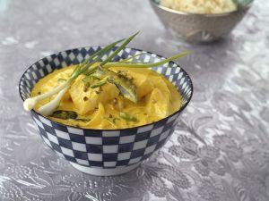 Kokos-Curry mit Kabeljau Rezept