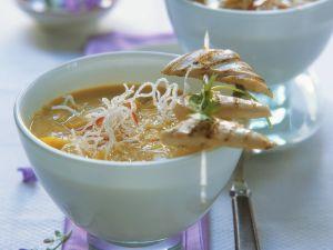 Kokos-Currysuppe mit Hähnchen Rezept