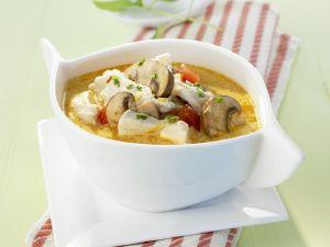 Kokos-Hühner-Suppe mit Champignons Rezept