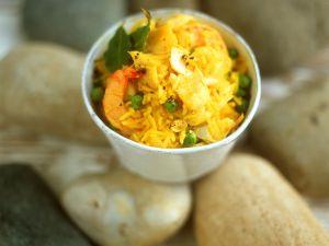 Kokos-Reis mit Garnelen Rezept