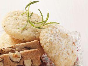 Kokos- und Rosmarinplätzchen Rezept