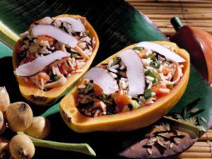 Kokosreis in Papaya Rezept