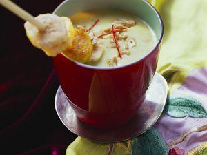 Kokossuppe mit Bananenspieß Rezept