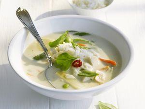 Kokossuppe mit Reis und Hähnchen Rezept
