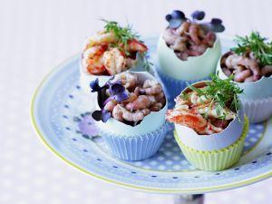 Krabbenfleisch und Shrimps Rezept