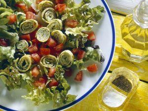 Kräuter-Omelett mit Salat Rezept